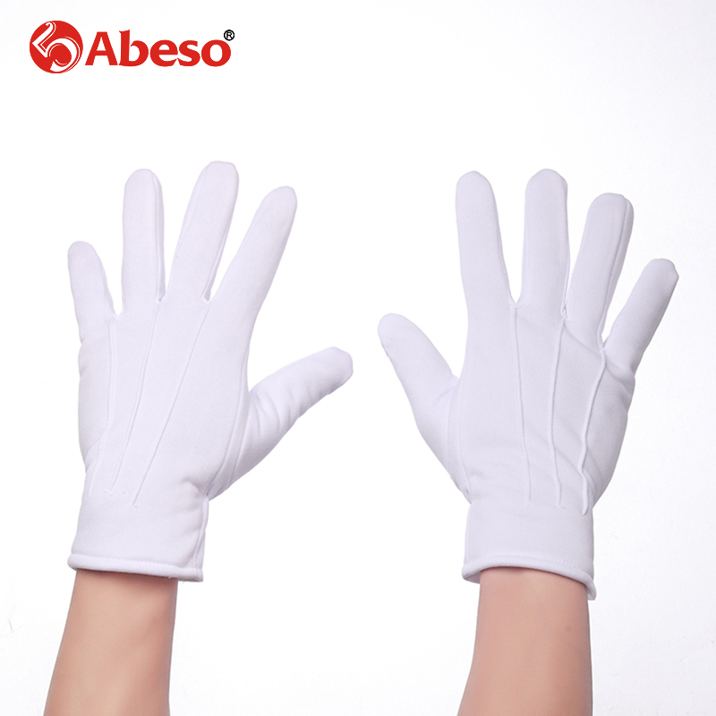 Abeso Fashion New 1pair Plus Cashmere Thick Elastic Large White Gloves White Color Etiquette Gloves Driving Gloves A1008