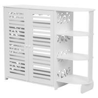 White Wooden Shoe Cabinet Storage Rack Organizer Cupboard Half Corner Tool