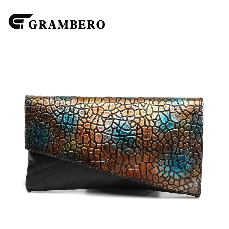 Fashion Hand Strap Clutch Wallet Soft Genuine Leather Top Leather Vintage Big Purse for Birthday Gifts Women Party Shoulder Bags fashion pu wallet w shoulder strap hand strap brown