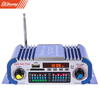 HY601 USB FM Audio 12V LED Car Stereo Amplifier Radio MP3 Speaker Hi Fi 2 Channel