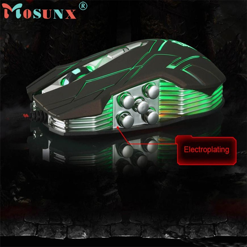 10D 4000DPI Optical LED Wired Gaming Mouse Mice For DotA FPS Laptop PC ...