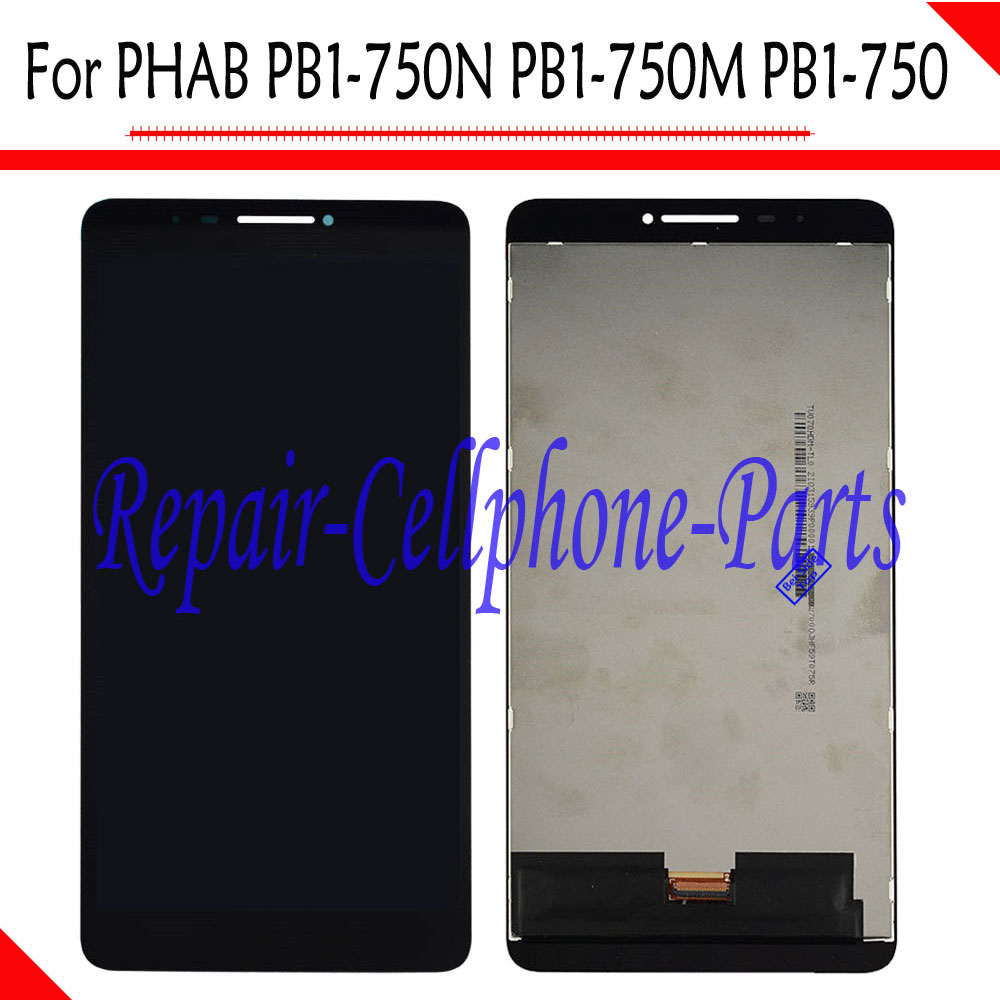 Black LCD DIsplay + Touch Screen Digitizer Assembly For Lenovo PHAB 6.98 PB1-750N PB1-750M PB1-750 юбка page one 2015 pb1 625611 499
