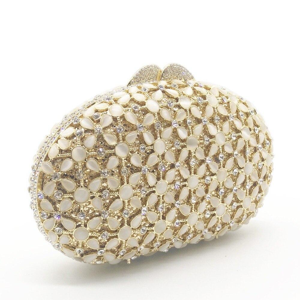 gold Bourse À Strass D'embrayage Noce Sacs Diamants Cristal Dîner Sac Soirée De Pour Nouvelle Arrivée Chaîne Silver Argent Main Embrayages xwZFgHHa