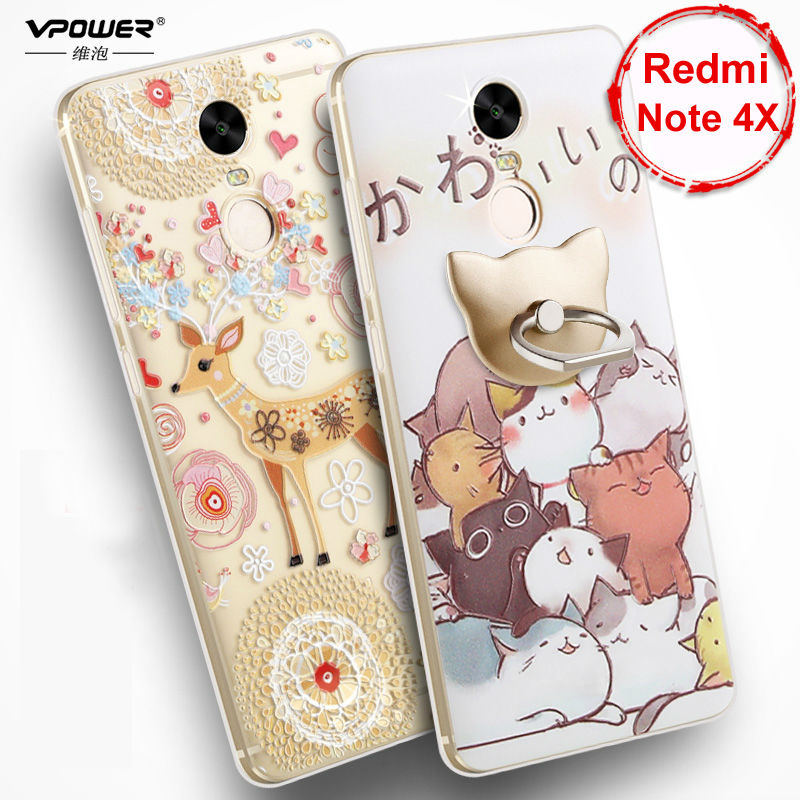 Vpower 3D Relief Cartoon Back Cover para Xiaomi Redmi Note 4x Funda - Accesorios y repuestos para celulares - foto 2