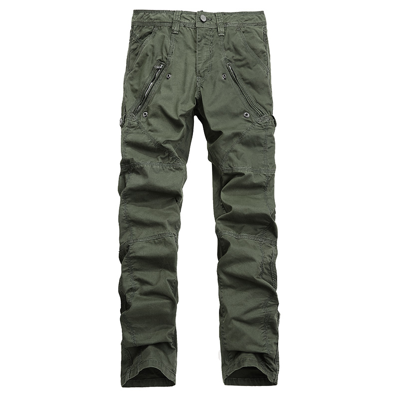 AIRGRACIAS Multi-Pocket Men's Military Cargo Pants Loose Style Men Pants Tactical Casual Long Trousers Male Zip Fly Size 29-38 14