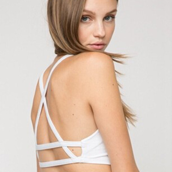 New Cool Celebrity Sexy Women Hollow Out Caged Back Cut Out Padded Bra Crop Top Tanks New est