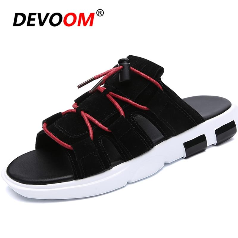 Fashion Buckle Slippers Heren Leather Mens Flip Flops Pu Comfort Flip Flop Man Foot Massage Slippers Mens Slippers Mens Sandals