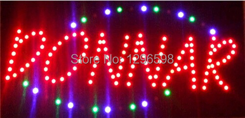 2017 limited sale customed low power 10X19 inch semi-outdoor Ultra Bright running DONNAR led advertising display sign