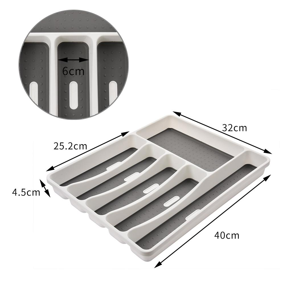 6 Compartments Kitchen Drawer Organizer Storage Drawer Cutlery Tray For Drawers Divider Durable Utensil Multi Partition Safe in Bottles Jars Boxes from Home Garden