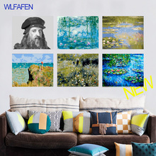 Claude Monet is Lmpressionz painting Spring Landscape oil paintings picture by numbers on canvas with acrylic paints with frame
