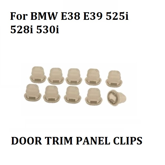 x10 For BMW E38 E39 525i 528i 530i Retaining Clip For Interior Trim New brand new for bmw e61 air suspension spring bag touring wagon 525i 528i 530i 535i 545i 37126765602 37126765603 2003 2010