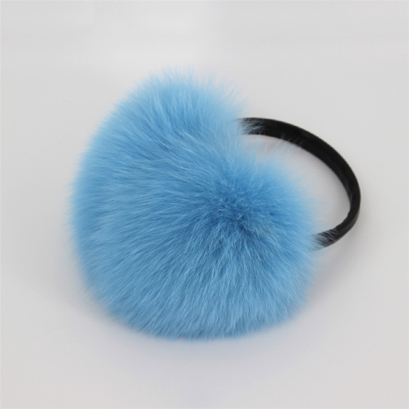 Women Paragraph Oversized 100% Really Fox Fur Earmuffs Korean Real Fur Earmuffs Lovely Personality Plush Fur Ear Cover Warm Gift