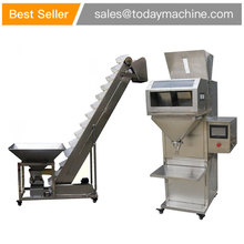 Semi automatic 50-1000g weighing granule filling machine for rice particle filling machine price granule powder weighing and filling