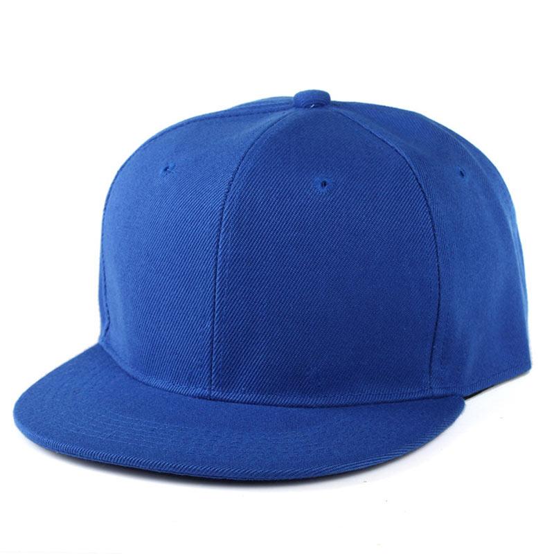 Men Women's Adjustable Blank Flat Bill Plain Snapback Cap Hats Black Blue Gray Khaki Dark Green Navy Purple Brown Etc.