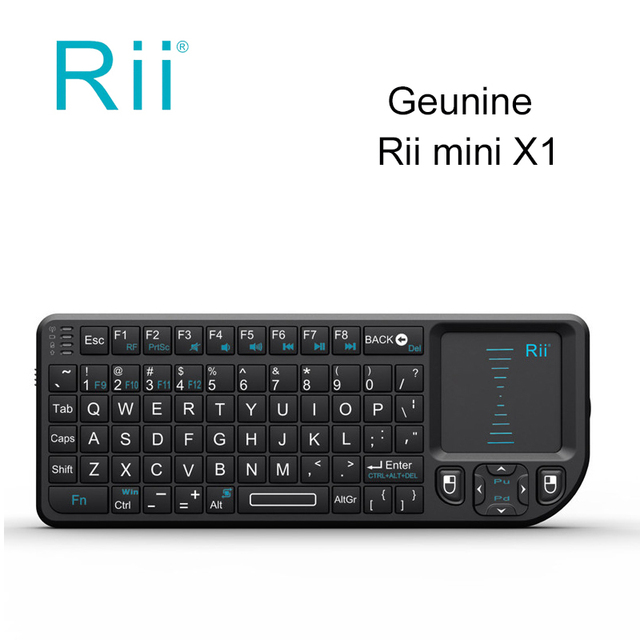 4dbbb9bd09d 10pcs/DHL wholesale Rii mini X1 Handheld 2.4GHz RF Wireless Keyboard Qwerty  With Touchpad Air Mouse For PC Notebook Smart TV Box