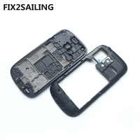 New Middle Plate Frame Bezel Housing Side Button Camera Glass Lens For Samsung Galaxy S3 Mini