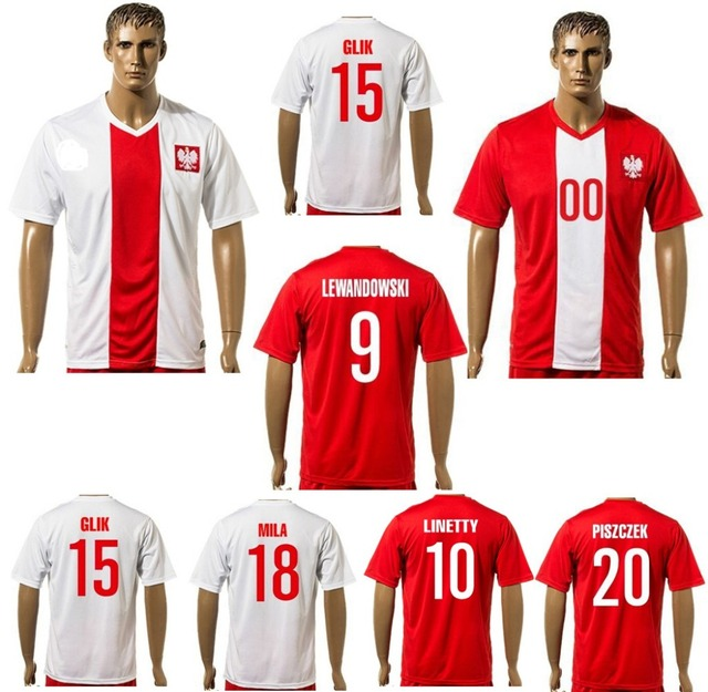 2016 Top Quality Poland Jersey 16 17 Home White Away Red Soccer Jerseys  Poland shirts Lato Dudek Football Shirt FREE SHIPPING 23cd3afd2