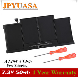 7XINbox 7.3V 50wh A1405 A1496 Laptop Battery For MacBook Air 13
