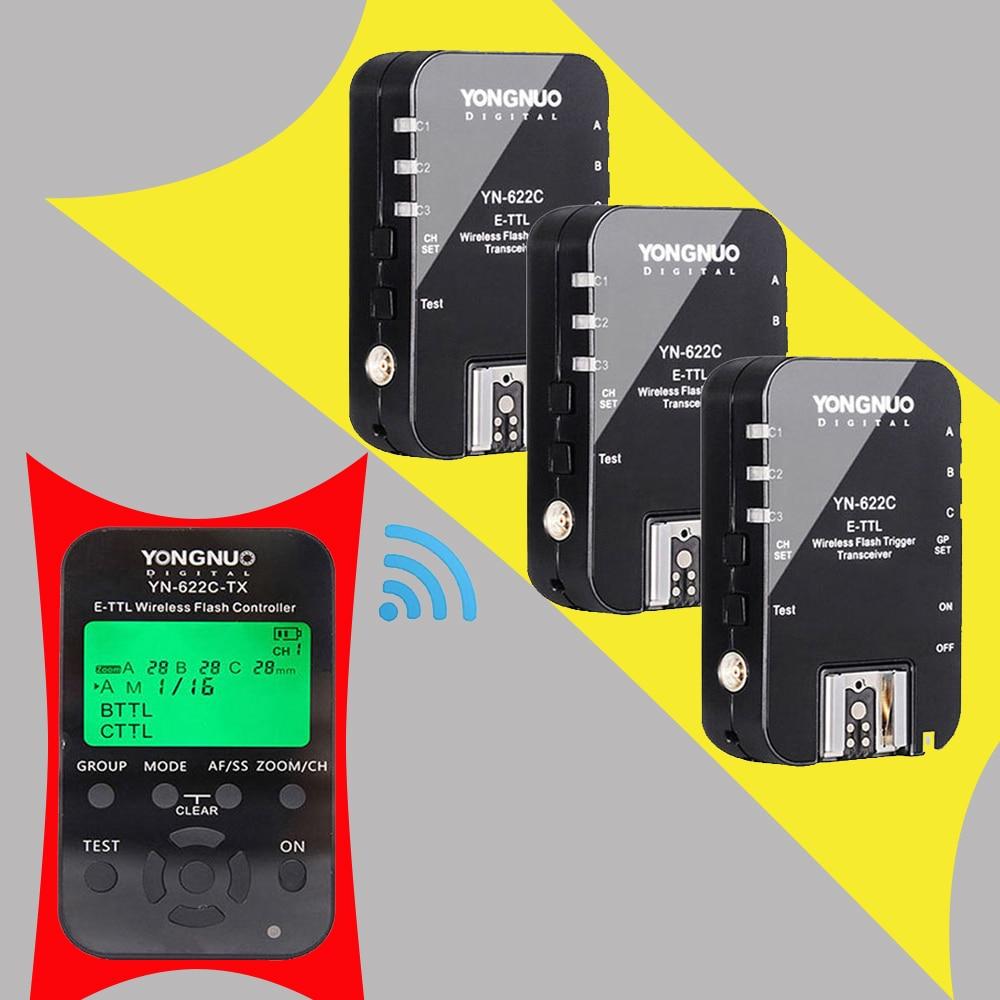 Yongnuo YN622C YN-622C 622C-TX YN622C-Kit Wireless TTL HSS Flash Trigger Set Transmitter X1+3X Receivers for Canon DSLR Camera yongnuo yn685 yn 685 беспроводной доступ в эти speedlite флэш построить в ttl приемник работает с yn622c yn622ii c yn622c tx yn560iv yn560 tx