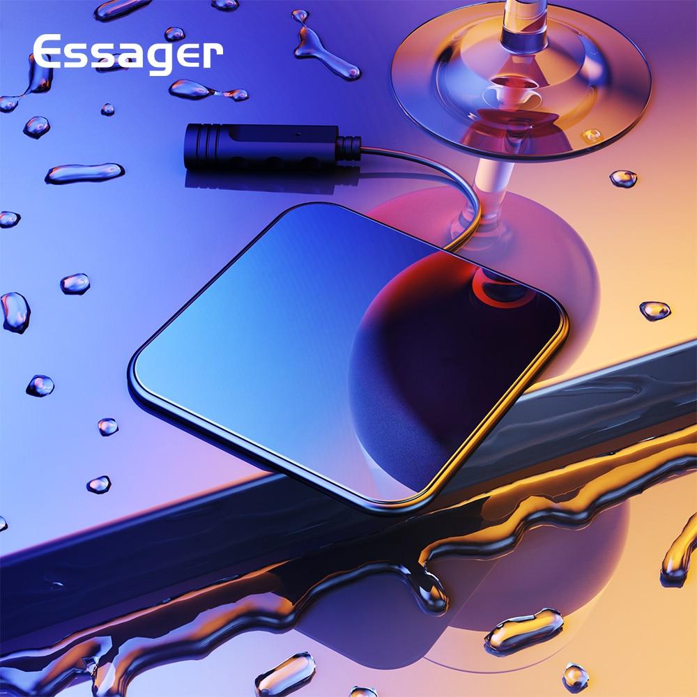 Chargeur sans fil Essager 10 W Qi pour iPhone Xs X 8 Xiao mi 9 Samsung S10 S9 Huawei Mate 20 Pro vitre chargeur rapide sans filChargeur sans fil Essager 10 W Qi pour iPhone Xs X 8 Xiao mi 9 Samsung S10 S9 Huawei Mate 20 Pro vitre chargeur rapide sans fil