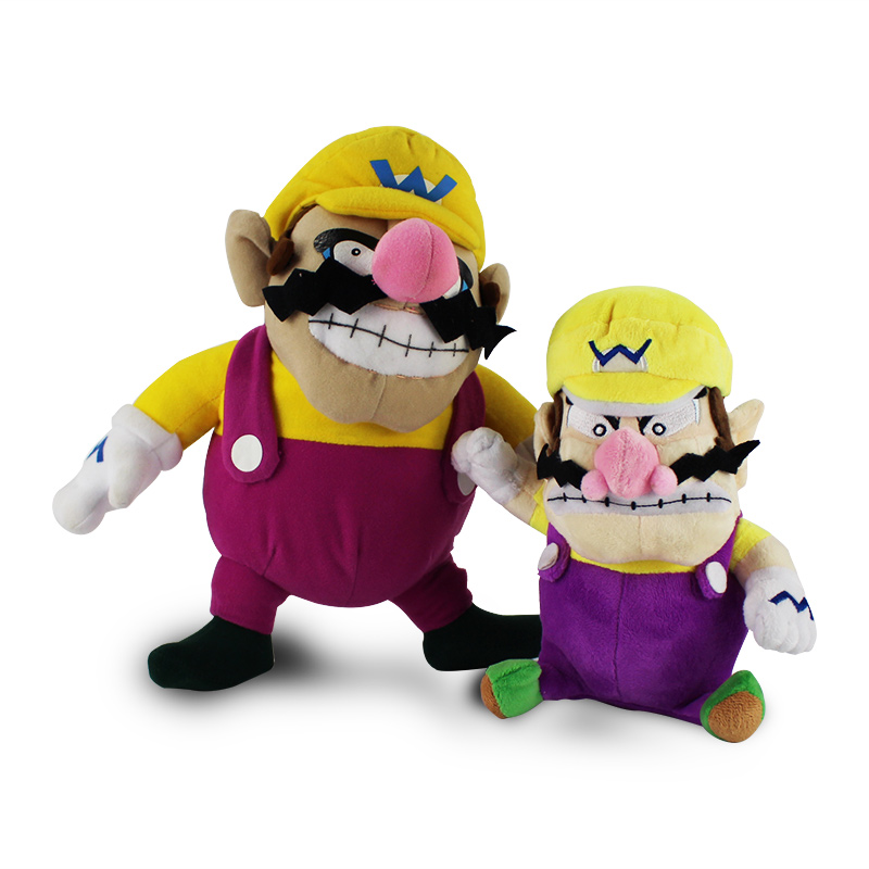 2style 25to31cm Super Mario wario Plush Doll Toys Stuffed standing Wario plush doll toy Kids Gift