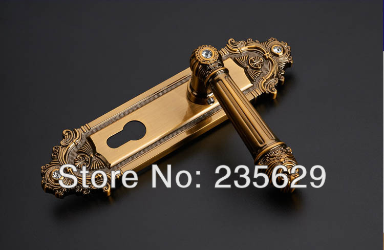 Free Shipping,Antique Bronze finished door lock, European style Entrance Villa Door Lock,double bolts mortise lock
