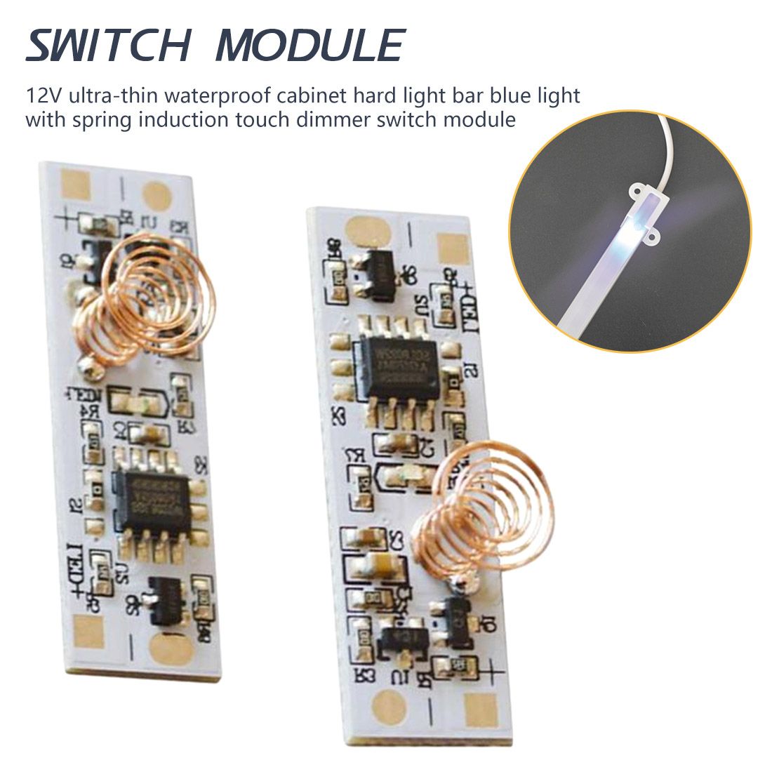 Lighting Accessories DC 3-24 V 36W 3A Capacitive Touch Sensor Switch Coil Spring Switch LED Dimmer Control Switch for Smart Home