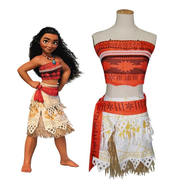 cf89a0063e32b Robe d été fille Moana Vaiana Costume Cosplay enfants enfants princesse  plage fête fille aventure
