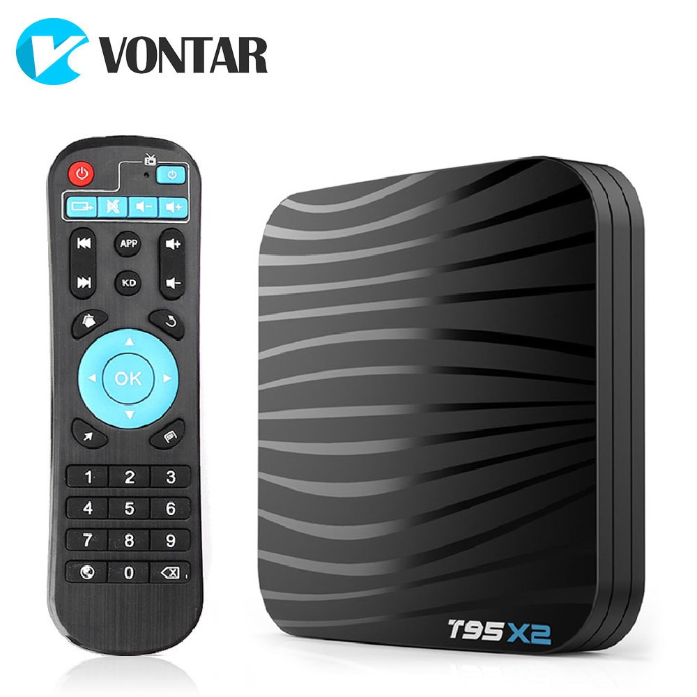 T95X2 boîtier de smart tv Android 8.1 4 GB 32 GB 64 GB Amlogic S905X2 Quad Core H.265 4 K Youtube lecteur multimédia Ensemble top Box T95 X2