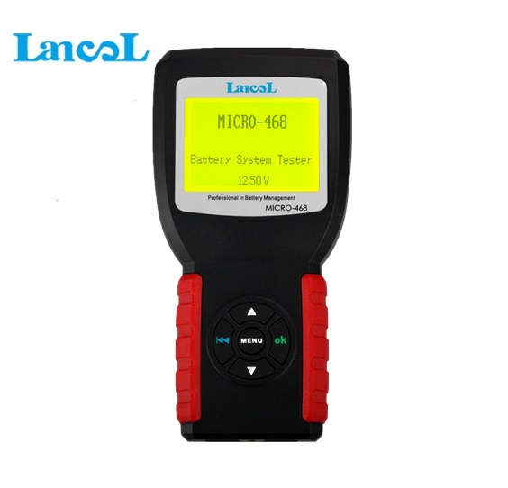 Lancol MICRO-468 12V Battery Tester Analyzer Automotive/ Car Battery Tester/ Conductance For GEL Lead Acid AGM Battery 12v lead acid battery tester led for car motorcycle gary