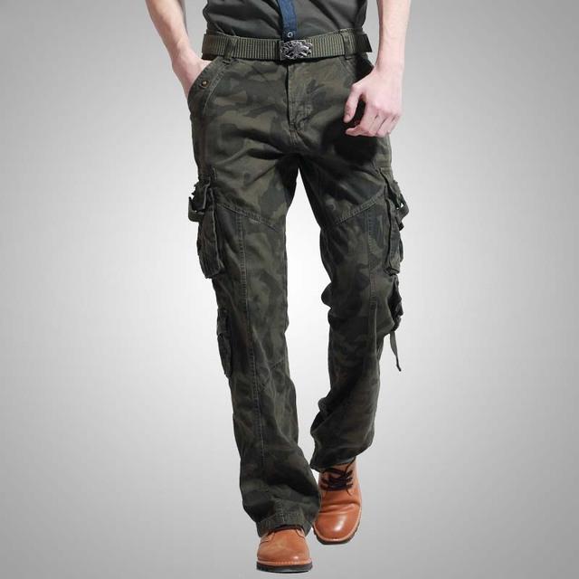 Manera de la Alta Calidad Para Hombre Pantalones de Camuflaje Militar de Algodón Plus Pantalones Cargo Del Ejército de Invierno