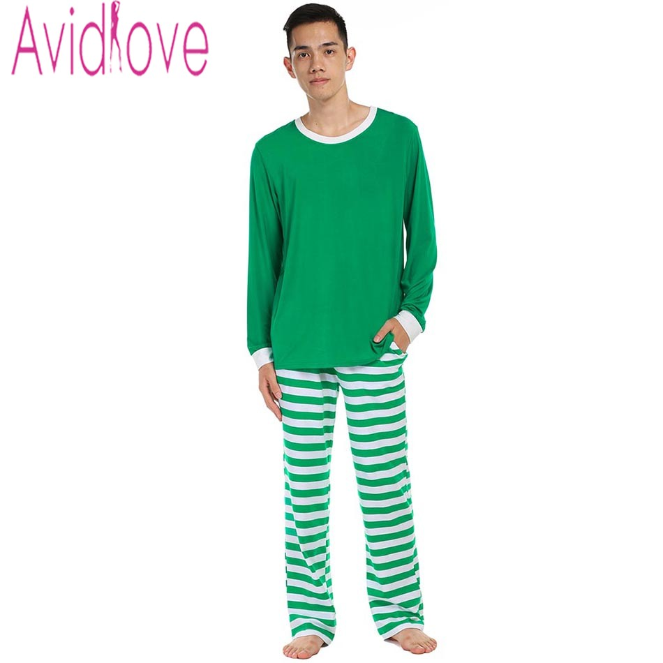 Avidlove Men Cotton Pajamas Set Long Sleeve Pullover Tops and Striped Pants  Plus Size Soft Loose Nightwear Sleepwear Home Cloth-in Pajama Sets from  Men s ... 36adfb63b