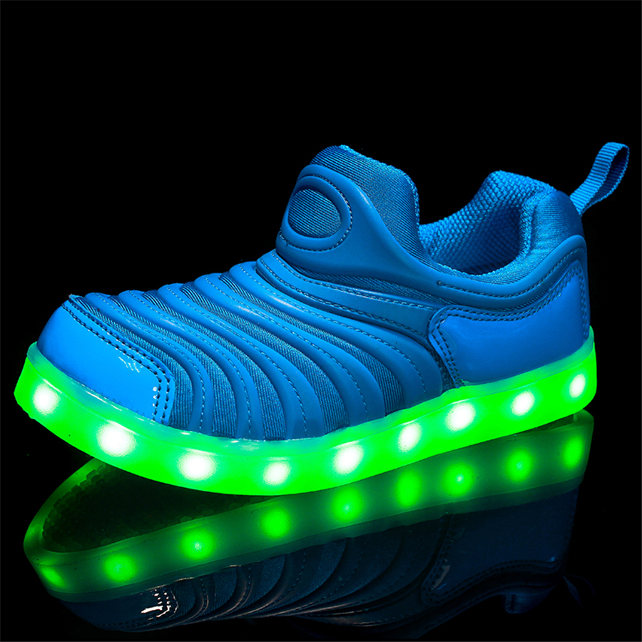 Boys And Girl Led Luminous Sneakers Usb Charging Luminous Shines Sapato Feminino 7 Color Led Shoes For Kids Footwear 50Z0044 glowing sneakers usb charging shoes lights up colorful led kids luminous sneakers glowing sneakers black led shoes for boys