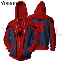 Autumn New Casual Avengers Spiderman Venom Superhero Sweatshirt Print Hooded 3d Hoodies Harajuku Mens