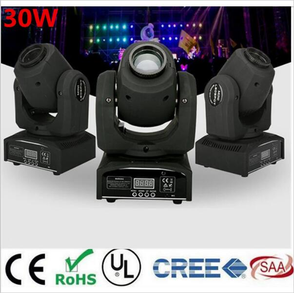 30W mini led spot moving head light Mini Moving Head Light DMX Controller dj 8 gobos effect stage lights/ktv bar disco 2pcs lot 10w spot moving head light dmx effect stage light disco dj lighting 10w led patterns light for ktv bar club design lamp