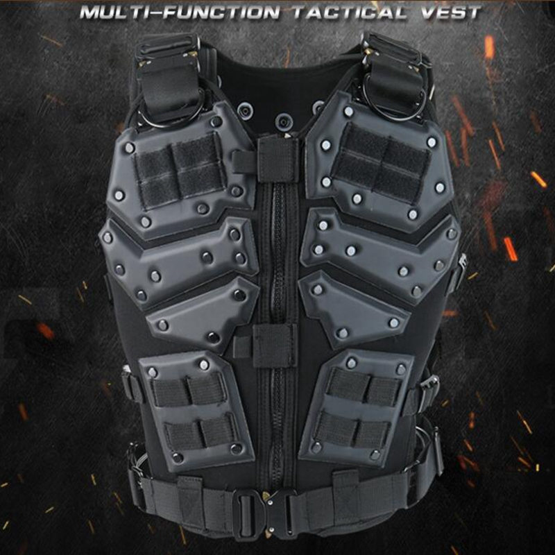 Airsoft TF3 Tactical Vest CS Paintball Protective Tactical Vest Waistcoat with 5 56 Magazine Pouches