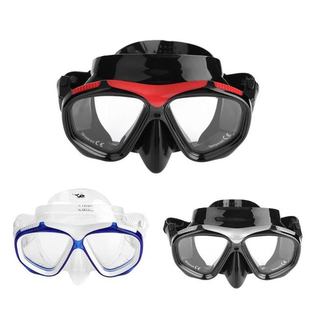 7575b371bbb Unisex Anti-fog Tempered Glass Diving Mask Swimming Goggles Snorkeling Gear  Spearfishing Swim Goggles Optical