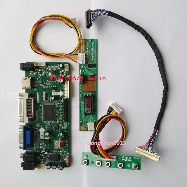 Monitor de pantalla LCD para panel de control, placa controladora, NT68676(HDMI + DVI + VGA) 2019 para 30pin B154EW02 1280X800