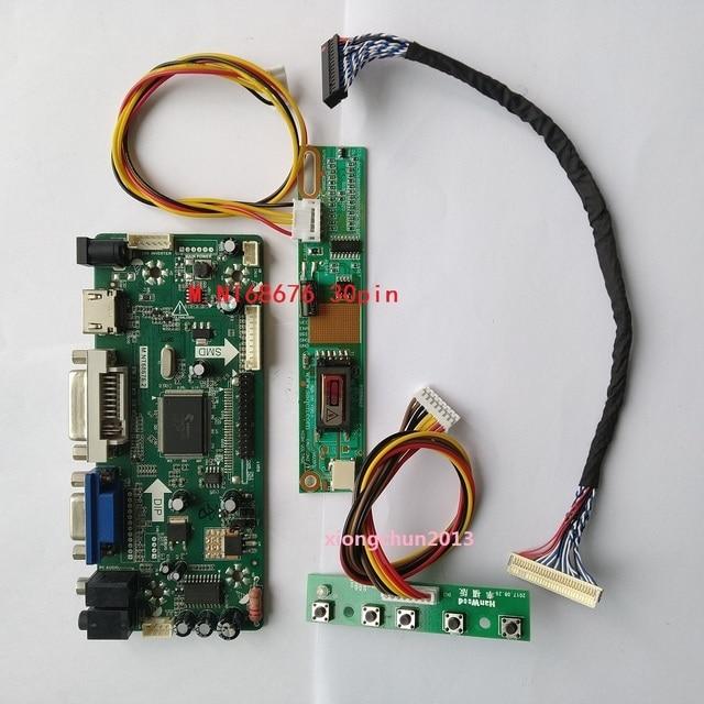 NT68676 (hdmi + dvi + vga) 2019 のための 30pin B154EW02 1280X800 画面モニター液晶パネルコントローラドライバボードディスプレイ
