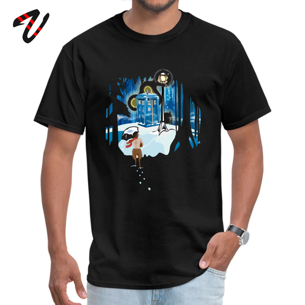 The Birches (in Blue) T-shirts Fitted Short Sleeve Funny 100% Cotton Crewneck Men Tees Gift Top T-shirts Summer The Birches (in Blue) -22612 black