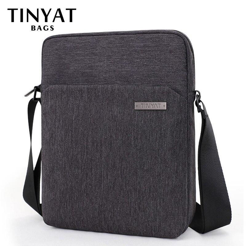 844c46d66be3 TINYAT Man Crossbody Bag Hidden Zipper Travel Casual Shoulder Bag for men  Fit for 9.7 inch