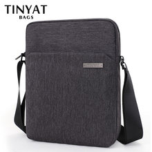 TINYAT Man Crossbody Bag Hidden Zipper Travel Casual Shoulder Bag for men Fit for 9.7 inch Ipad Polyester Brand Messenger bag(China)
