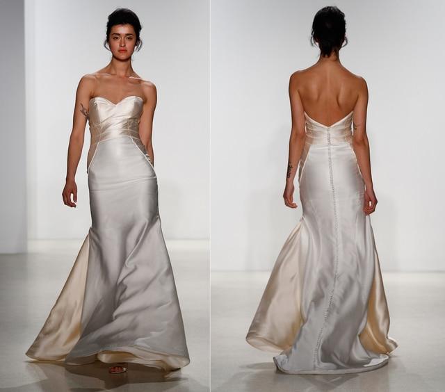 Vestidos de novia de Seda mikado vestido sin tirantes con detalles ...