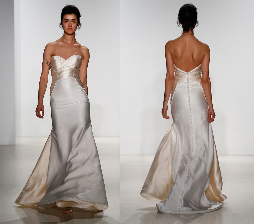 Mikado Wedding Gown: Wedding Dresses Silk Mikado Strapless Gown With Piped Seam