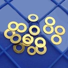 10pcs DIY มีดพับเครื่องซักผ้าพับมีดสกรูพับทองเหลืองมีดพับอุปกรณ์เสริมเครื่องมือ
