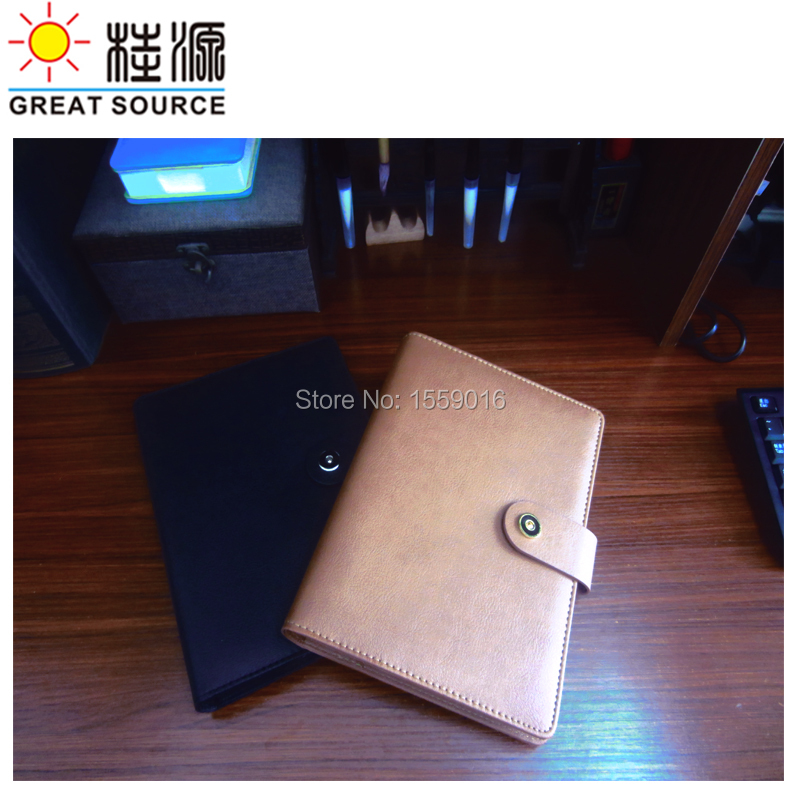 Leather A5 Padfolio Leather Notepad Folder Pen Bag Ruler Color Stickers Gift Set Ring Binder File For 2020 A5 Planner