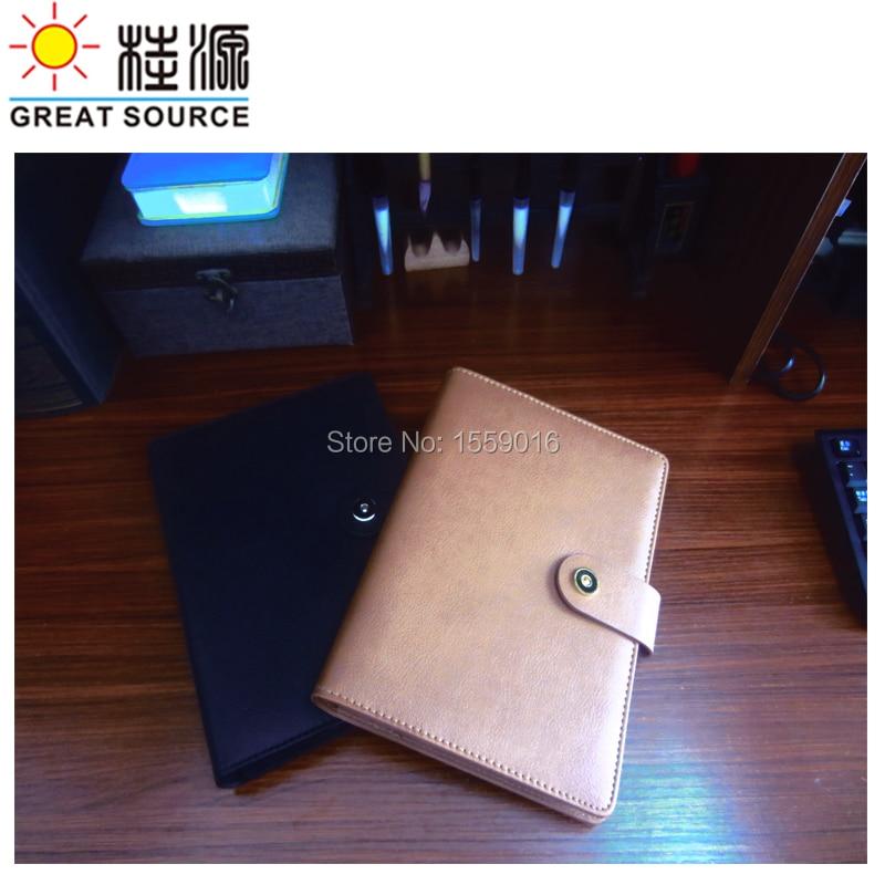 Leather A5 padfolio Notepad Folder Pen Bag Ruler Color Stickers Gift Set Ring Binder File For 2020 Planner