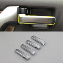 Car Accessories Interior Decoration ABS Inner Side Door Handle Cover Trims For Toyota Land Cruiser 2016 Car Styling car accessories interior decoration abs head lamp adjustment buttons cover trims for toyota land cruiser 2016 car styling