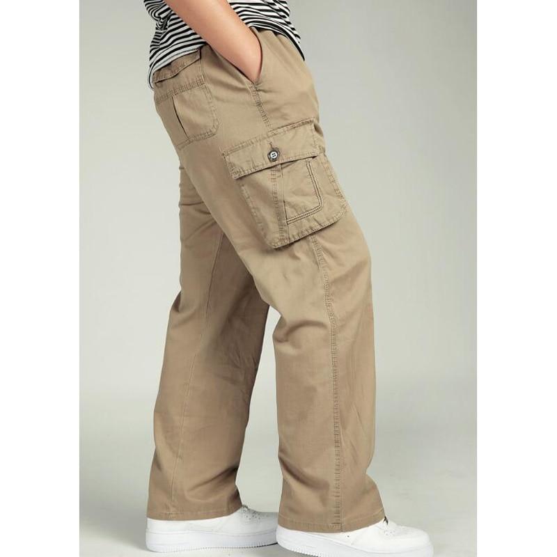 Для мужчин брюки Повседневное брюки свободные Для мужчин длинные брюки высокое ждет человек брюки эластичный пояс плавки размер: XL-6XL
