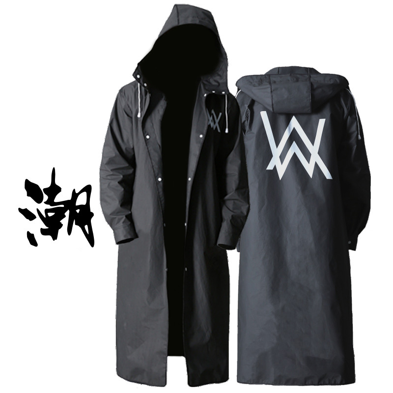 Raincoat black adult field walker mode outside pattern long mens poncho walking environmentally friendly waterproof motorcycle